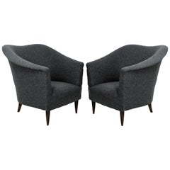 Pair of Sculptural Italian Midcentury Armchairs