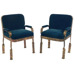 Pair of Sculptural Lounge Chairs Attributed to Silas Seandel