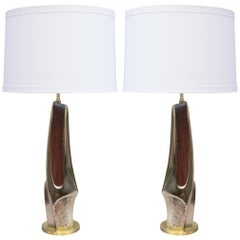 Pair of Sculptural Mid-Century Modern Table Lamp