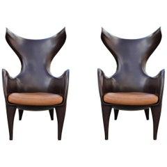 Pair of Sculptural Modern Frankie Chairs by Jordan Mozer