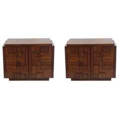 Pair of Sculptural Nightstands or End Tables