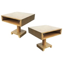 Pair of sculptural Nightstands or End Tables in Style of Tommi Parzinger