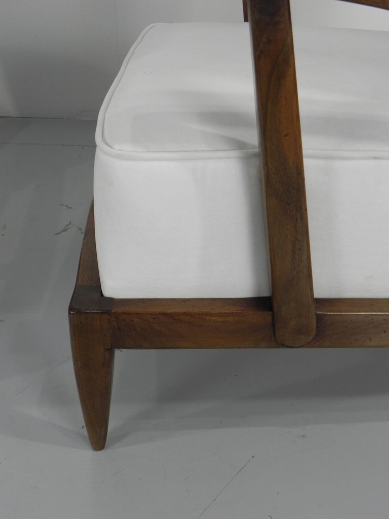 Pair of Sculptural Paolo Buffa Armchairs Italian Midcentury For Sale 1