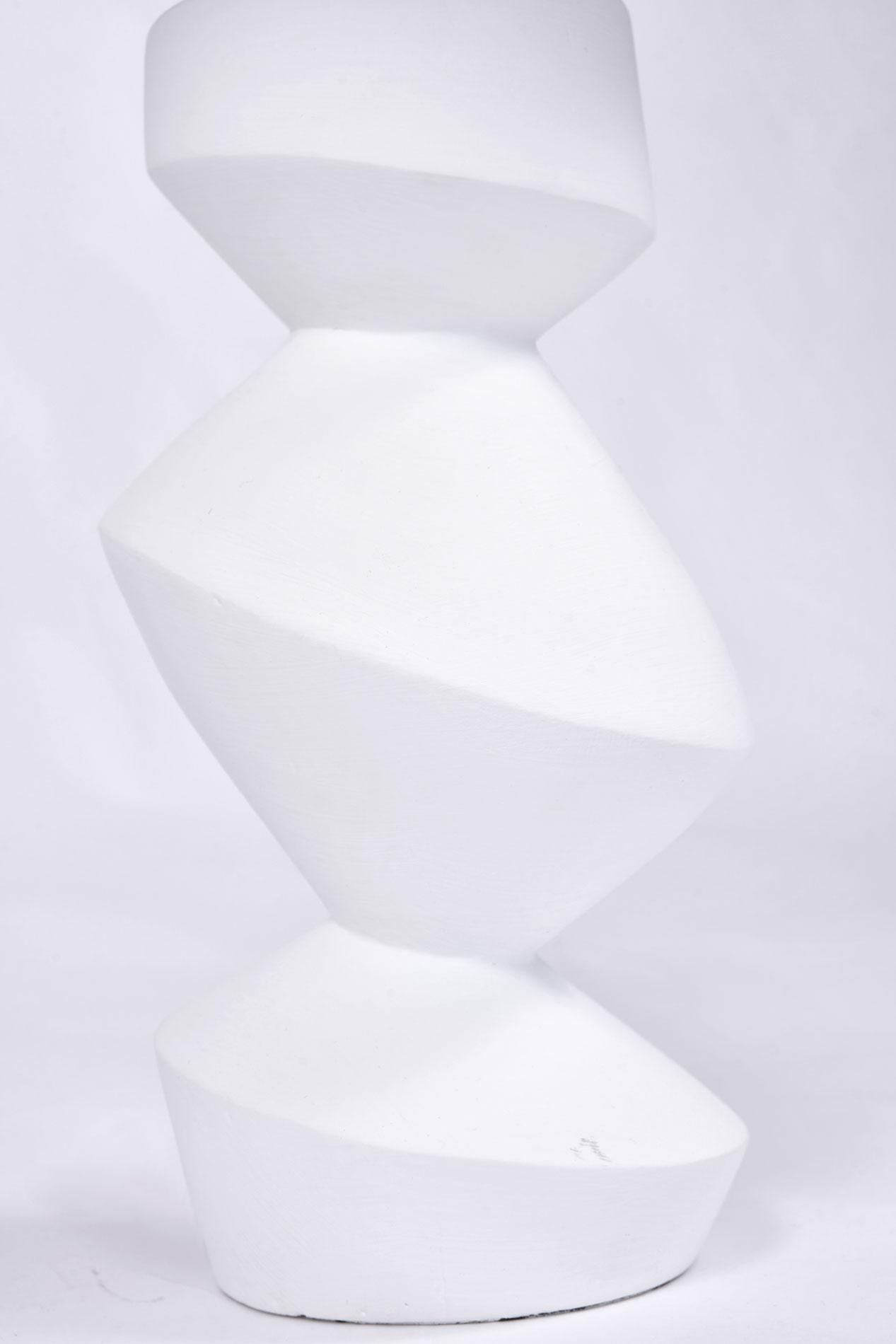 1930s White Plaster Table Lamp | Rose