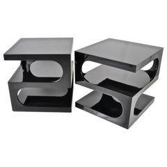 Pair of Sculptural Space Age Side Tables, USA, 1970s