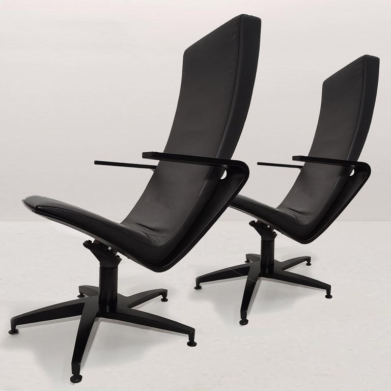 Pair of Sculptural Swiveling Chairs by Pennti Hakla for Avate, Finland, 2001 For Sale 2