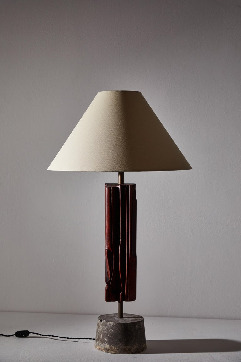 Pair of Sculptural Table Lamps by Yasuo Fuke For Sale 7