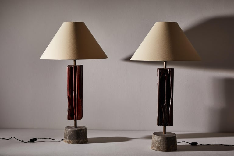 Late 20th Century Pair of Sculptural Table Lamps by Yasuo Fuke For Sale