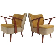 Pair of Sculptural Vintage Cocktail Chairs