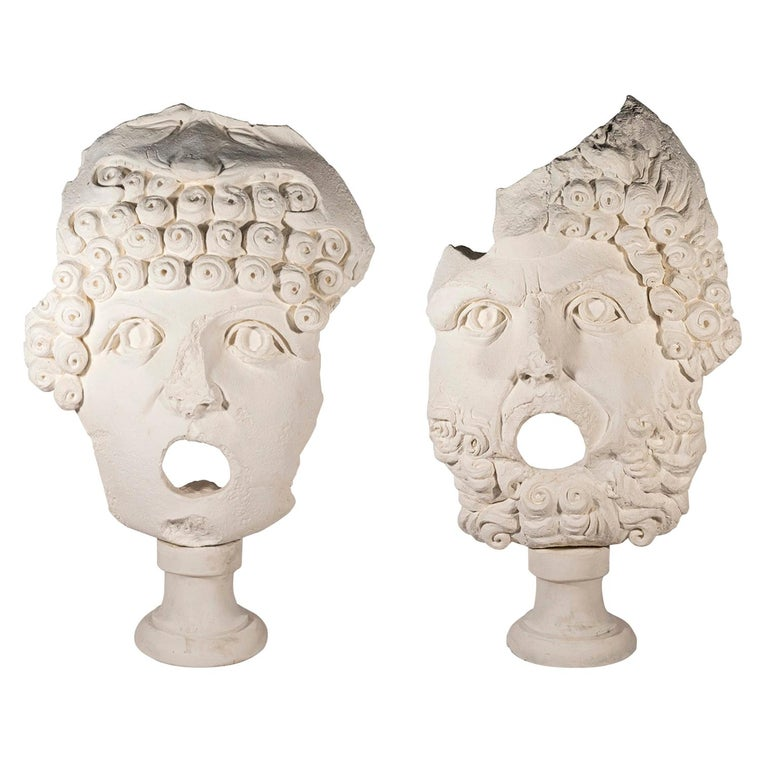 Pair of Sculptures, Plaster, France, circa 2000 For Sale