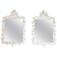 Pair of Sea Shell Iron Mirror
