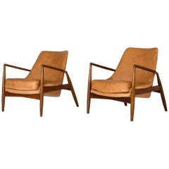 "Pair of ""Seal"" lounge chairs by Ib Kofod-Larsen"