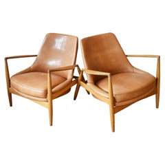 Pair of 'Seal' Lounge Chairs Produced by Ib Kofod-Larsen for Brdr Petersens