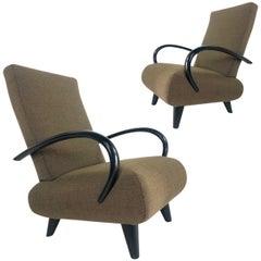 Pair of Sebastian Herkner for Wittmann Sculptural Lounge Chairs, Hard to Find