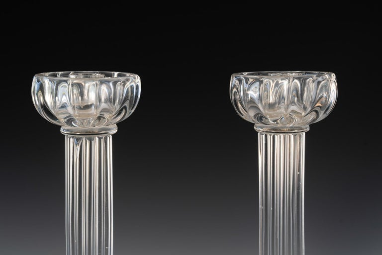 Italian Pair of Seguso Candlesticks 2 by John Loring of Tiffany & Co. For Sale
