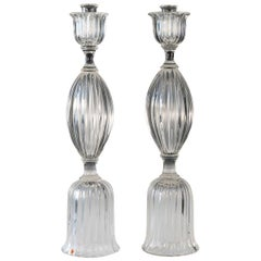 Pair of Seguso Candlesticks 3 by John Loring of Tiffany & Co.