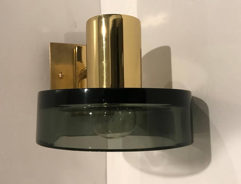 Italian Pair of Seguso Murano 1960s Glass Wall Lights For Sale