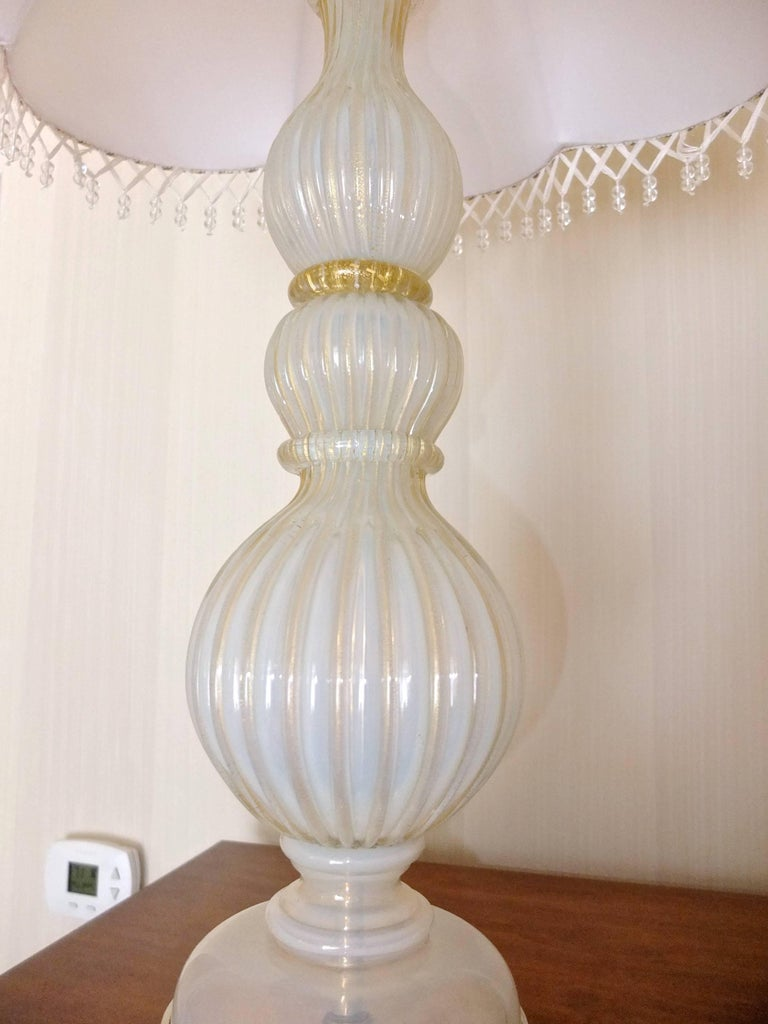Pair of Seguso Murano Lamps by Marbro For Sale 12