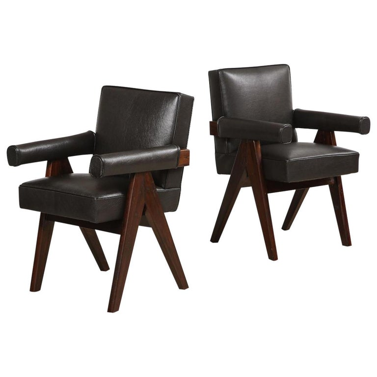 Pierre Jeanneret Armchairs For Sale