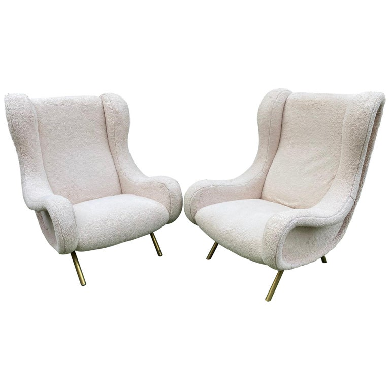 Pair of Senior Armchairs by Marco Zanuso for Arflex, 1950s For Sale