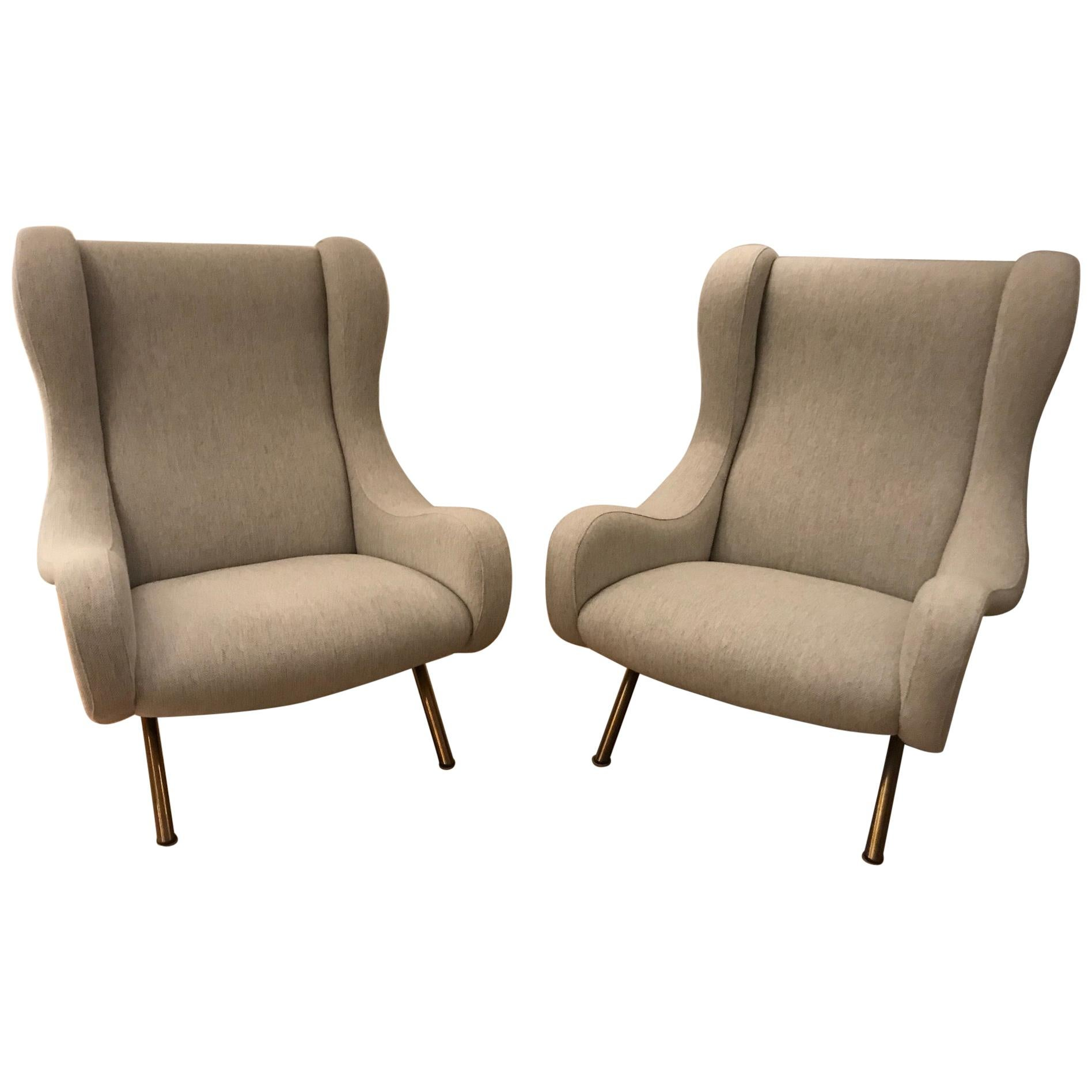 """Pair of """"Senior"""" Armchairs by Marco Zanuso for Arflex, 1950s"""
