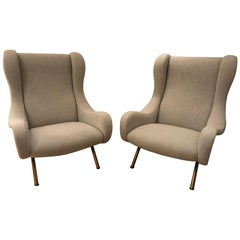 "Pair of ""Senior"" Armchairs by Marco Zanuso for Arflex, 1950s"