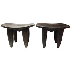 Pair of Senufo African Stools