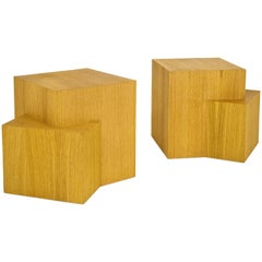 Pair of Serge Castella Contemporary Bedside Tables, France, circa 2000