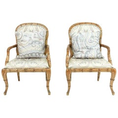 Pair of Serge Roche Style Armchairs