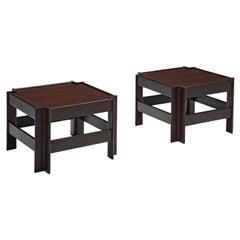 Pair of Sergio Asti for Poltronova 'Zelda' Wooden Coffee Tables
