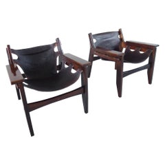 Pair of Sergio Rodrigues Kilin Lounge Chairs for Oca, Brazil, 1973