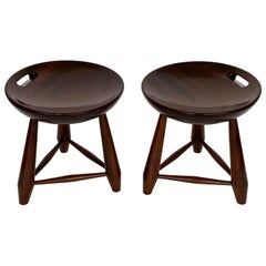 Pair of Sergio Rodrigues Mocho Stools in Brazilian Jacarandá