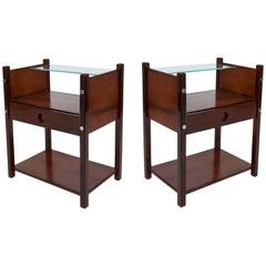 Pair of Sergio Rodrigues 'Yara' Jacarandá Side Tables