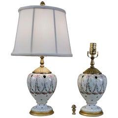 Pair of Sèvres Porcelain Table Lamps