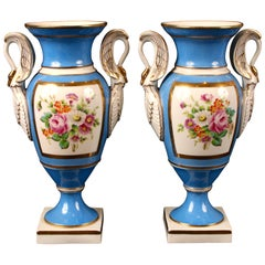 Pair of Sevres Style Porcelain Vases