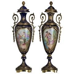 Pair of Sévres Vases Napoleon III, 19th Century