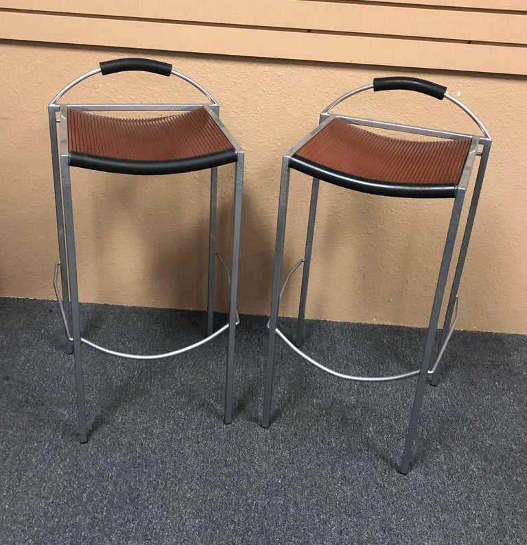 Pair of Sgabello Stools by Maurizio Peregalli for Zeus For Sale 5