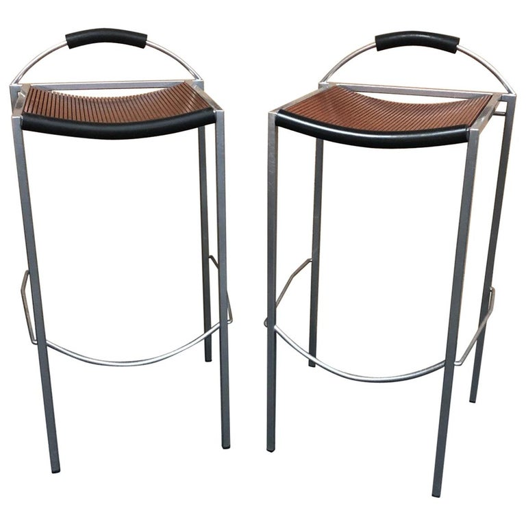 Pair of Sgabello Stools by Maurizio Peregalli for Zeus For Sale