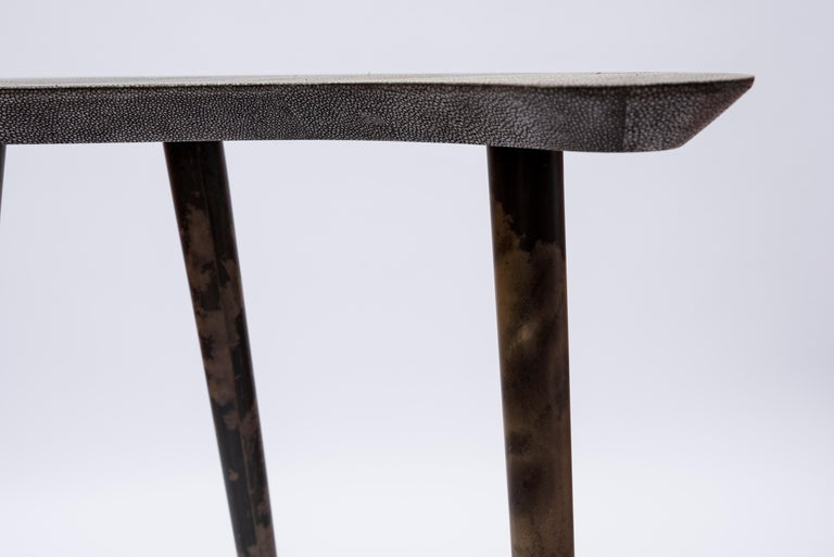 Late 20th Century Pair of Shagreen and Goatskin Nesting or Side Tables For Sale
