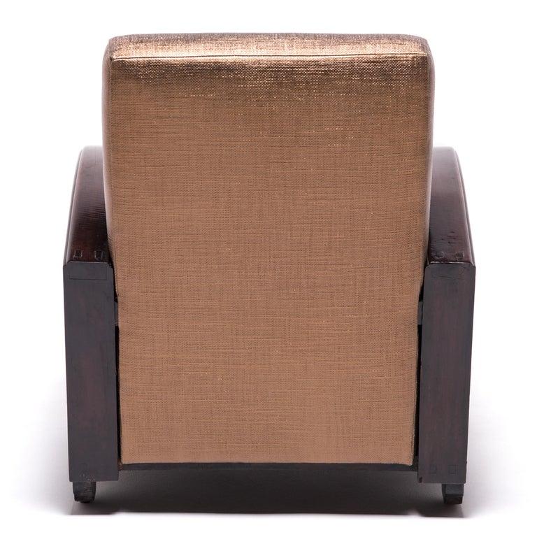 Pair of Shanghai Deco Club Chairs For Sale 3