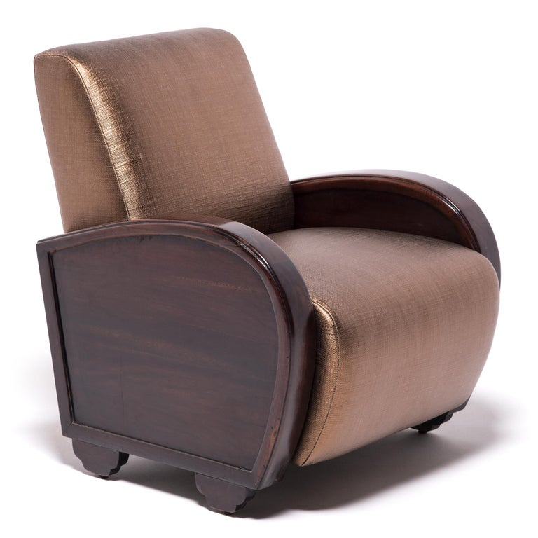 Pair of Shanghai Deco Club Chairs For Sale 4