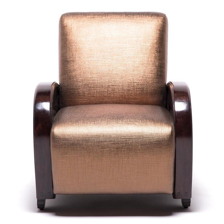 Pair of Shanghai Deco Club Chairs For Sale 1
