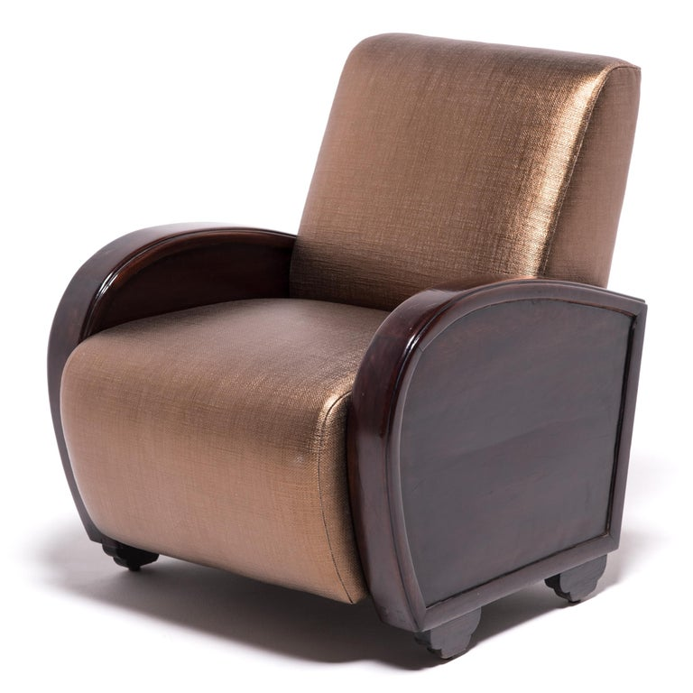 Pair of Shanghai Deco Club Chairs For Sale 2