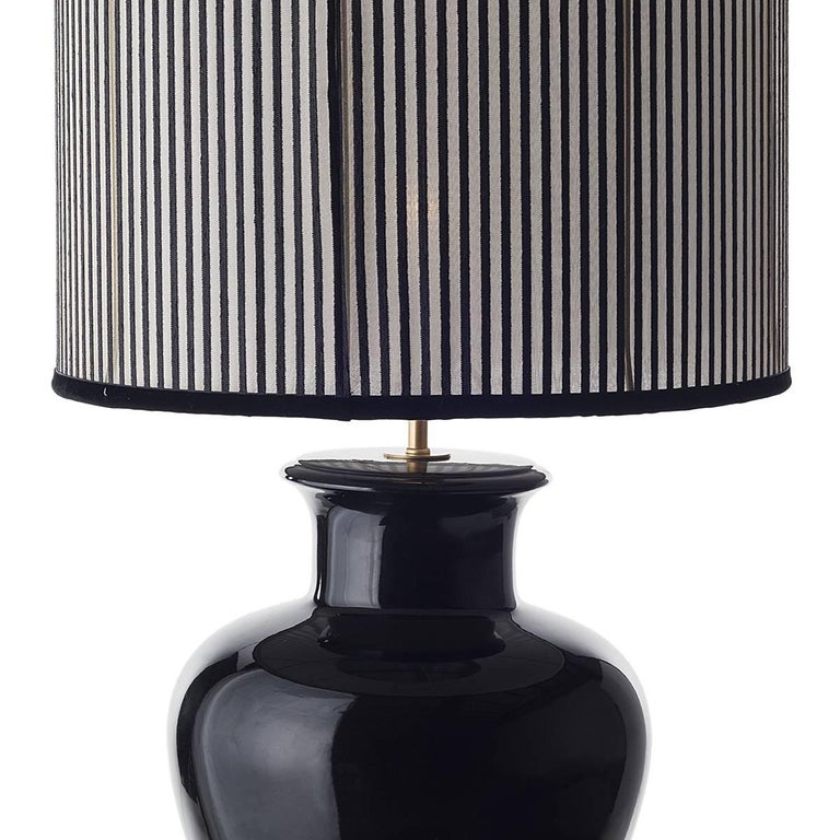 Pair of Shapely Ceramic Table Lamps For Sale 3