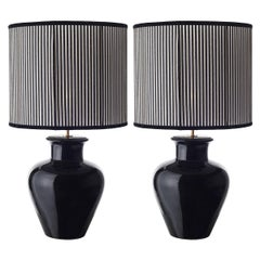 Pair of Shapely Ceramic Table Lamps