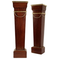 Pair of Sheaths, Consoles, Mahogany, Golden at the Gold Leaf, 19th Century