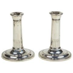 Pair of Sheffield-Plated Regency Candlesticks