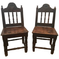 Pair of Shell-Carved Chairs