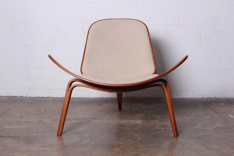 Designed in 1963 and only produced for a brief period. This pair has early labels from the second release in the 1990s. Hans Wegner for Carl Hansen. Priced and sold individually.