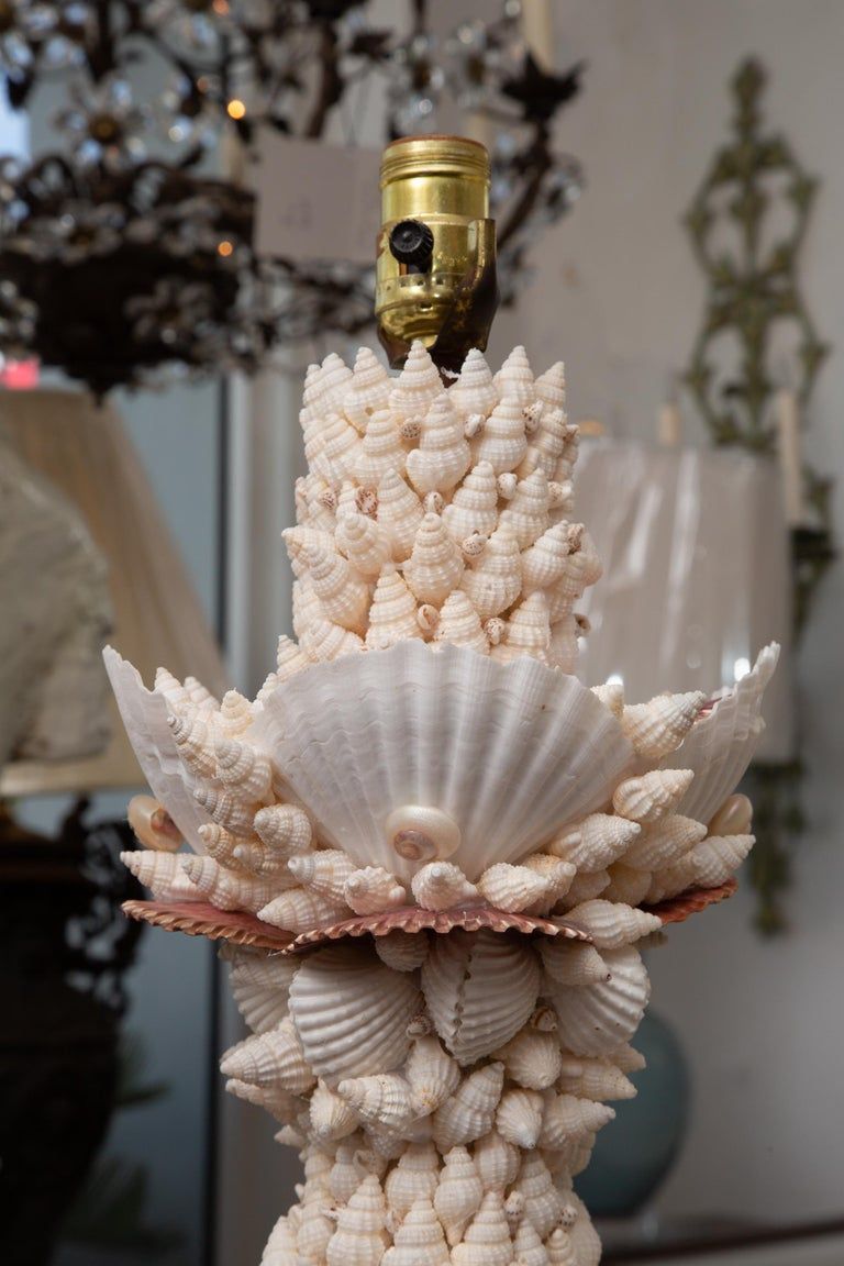 Other Pair of Shell Encrusted Table Lamps For Sale